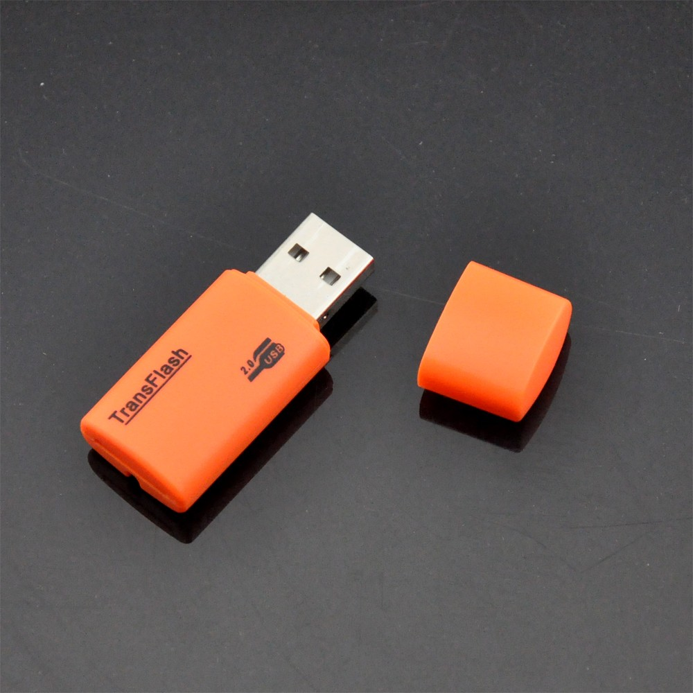 0 mini microsd tf card reader adaptor - orange