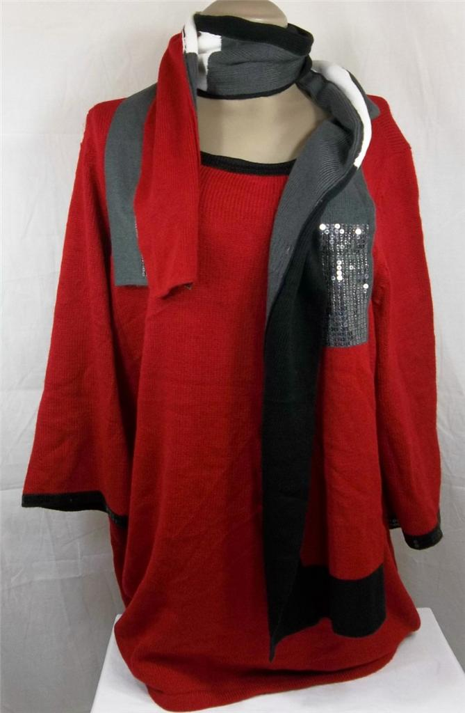 Womens plus size clothing style co 1x 2x 3x red knit top for 3x shirts on sale