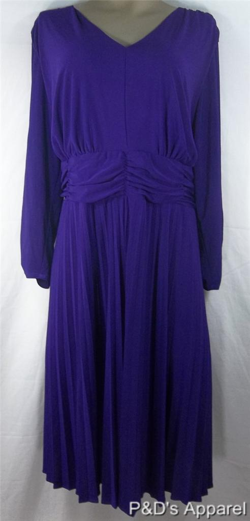 Ny Collection Womens Plus Size Clothing Dresses Purple