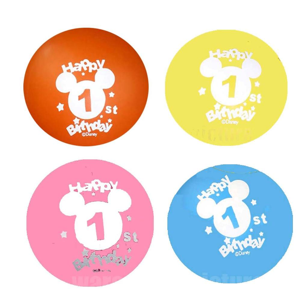 Authentic Disney Mickey Minnie Mouse Donald Duck Party Latex Imprint Balloons