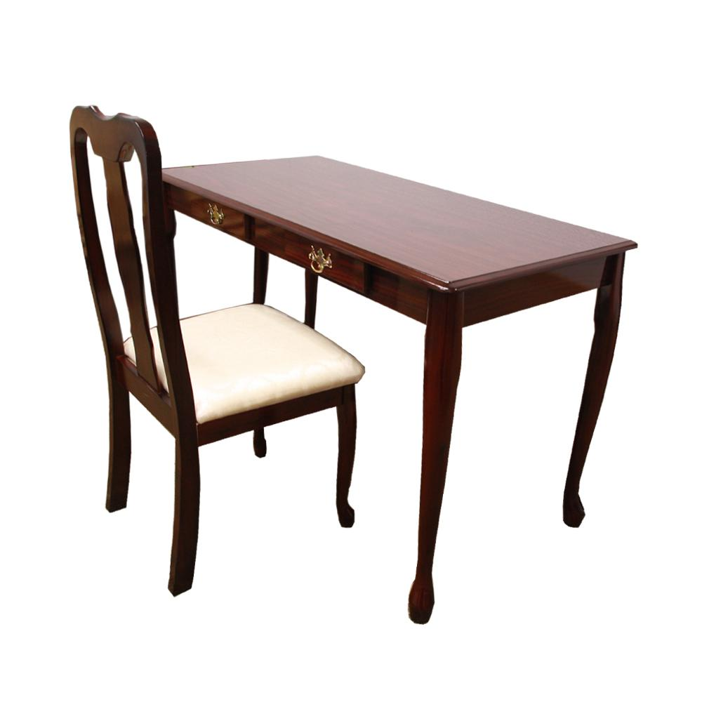 Cherry Finish Writing Desk And Chair Set Queen Anne Style