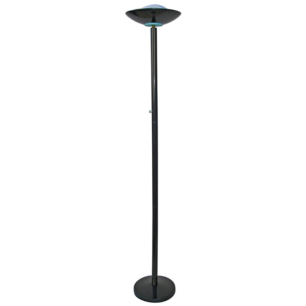 black finish metal halogen floor lamp with dimmer sku3030bk free ups shipping ebay. Black Bedroom Furniture Sets. Home Design Ideas