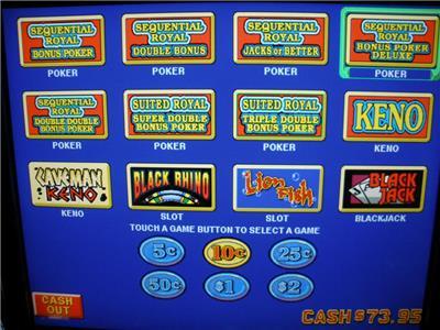 slot machine touch screen