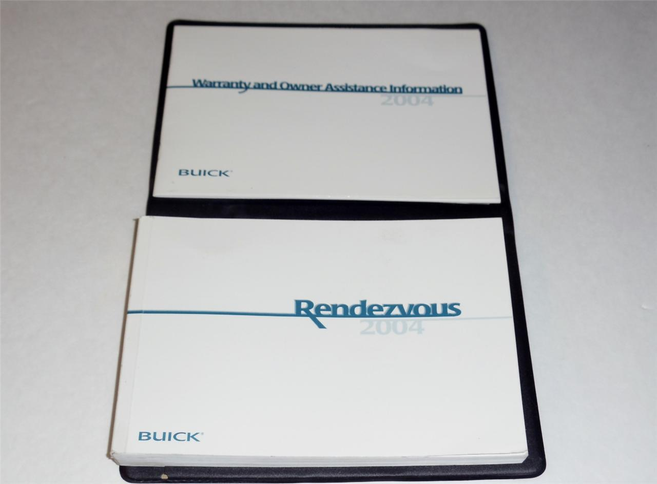 Details about 2004 Buick Rendezvous Owners Manual Book