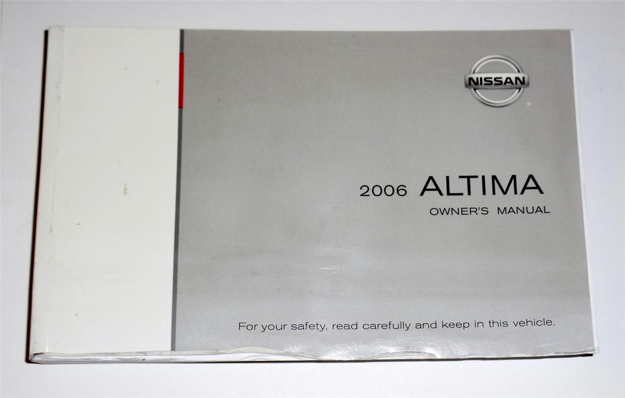2006 nissan altima owners manual book ebay. Black Bedroom Furniture Sets. Home Design Ideas