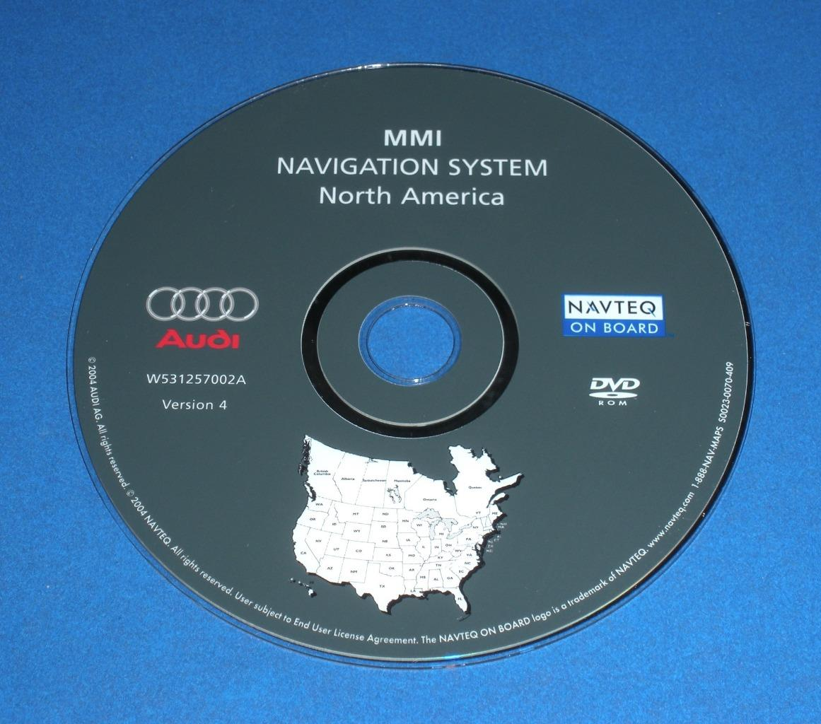 oem audi navigation system map disc dvd w531257002a. Black Bedroom Furniture Sets. Home Design Ideas