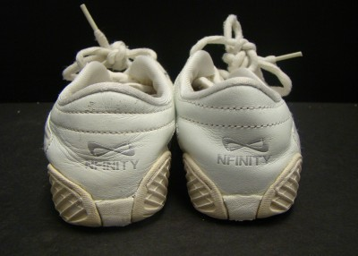 nfinity evolution youth white cheer tennis shoes size 13