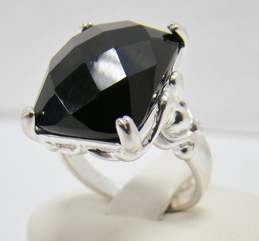 925 sterling silver ring size 8 25 black onyx honeycomb