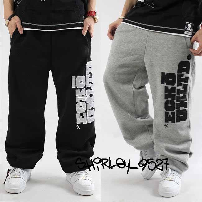 nwt mens hip hop sweatpants track pants streetwear skateboarding loose trousers ebay. Black Bedroom Furniture Sets. Home Design Ideas