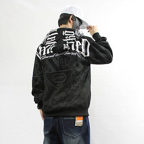 mens hoody hip hop ecko jacket zip hoodie rap streetwear hooded graffiti sweater ebay. Black Bedroom Furniture Sets. Home Design Ideas