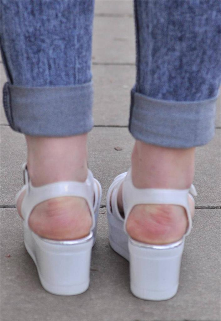 Vtg-Retro-NEW-cut-out-jelly-Chunky-White-PVC-Sandal-Flatform-Wedge-Heel-shoes