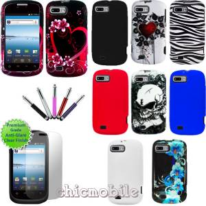 Tracfone ZTE Valet Z665C Hard Design Case Skin Cover Screen Stylus
