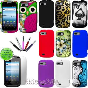 Talk Tracfone ZTE Valet ACE Hard Design Case Skin Cover Screen Stylus