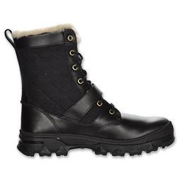 nib polo ralph mens boots hayward black fur lined