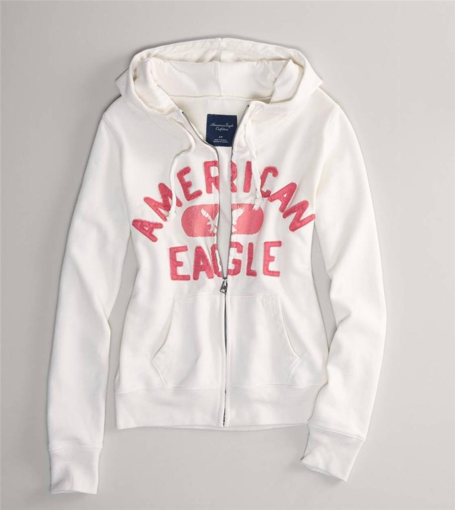 Details about NWT! AMERICAN EAGLE AE Graphic Womens Full Zip Up Hoodie