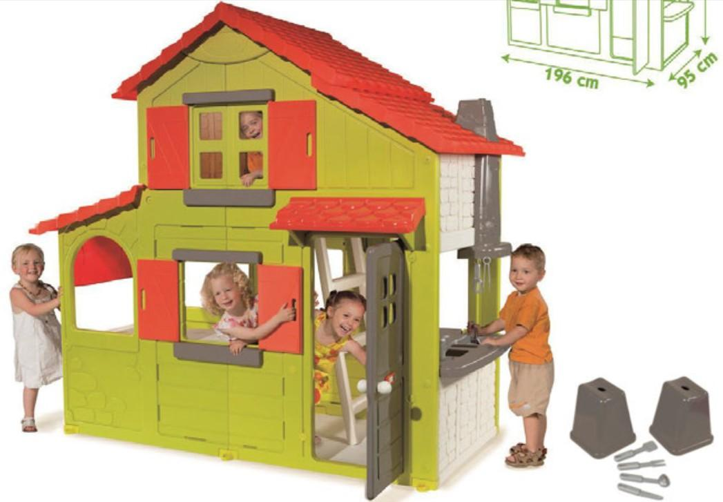 simba smoby play house winnie the pooh hut slide swing. Black Bedroom Furniture Sets. Home Design Ideas