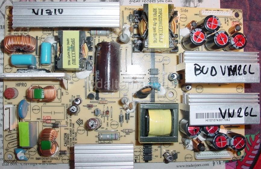 Repair-Kit-Vizio-VW26L-LCD-Monitor-Capacitors