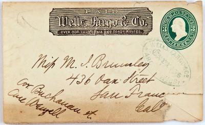 Wells Fargo Co Express Cover San Francisco California