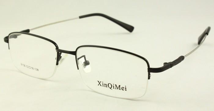 Half Rimless Eyeglasses Frames 8158 Mens Memory Temple ...