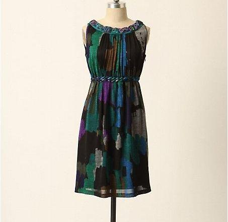 New-Anthropologie-Abstract-Adornment-Dress-Size-XS