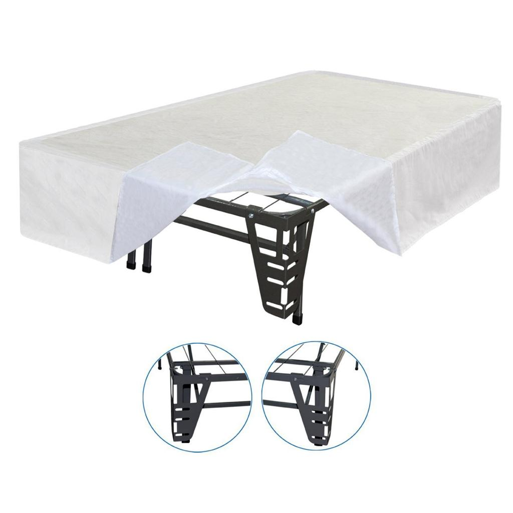 Best Price Mattress King Size New Innovated Box Spring - Platform Metal Bed Frame + Brackets for headboard & Footboard + Bed Skirt - at Sears.com