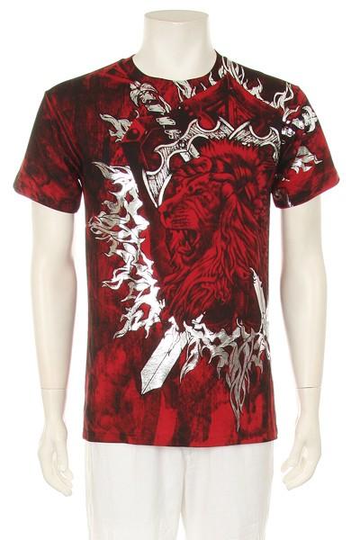 Mens Best Selling Lion Sword Design Hot Red New T Shirt Ebay