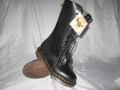 vintage dr doc women 39 martens black 14 eye derby boot uk 3 us 5 made in england ebay. Black Bedroom Furniture Sets. Home Design Ideas