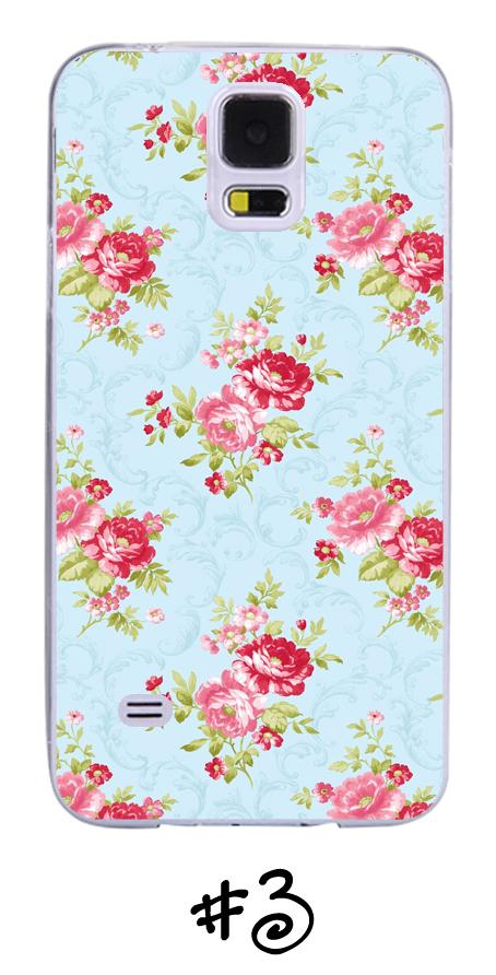 Vintage Floral Rose Flower Transparent Phone Case for Samsung Galaxy Range