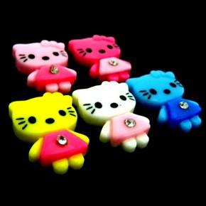 C1547B x 20 pcs Mix Cute Hello Kitty Crystal Girl Flatback