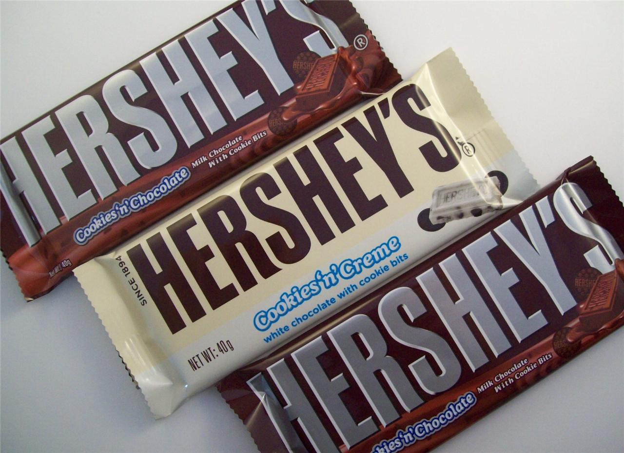 Hershey bar cookies and cream