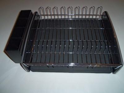 Kitchenaid Dish Drying Rack 3 Piece Black Dish Drainer Kitchen Aid Black Chrome Ebay