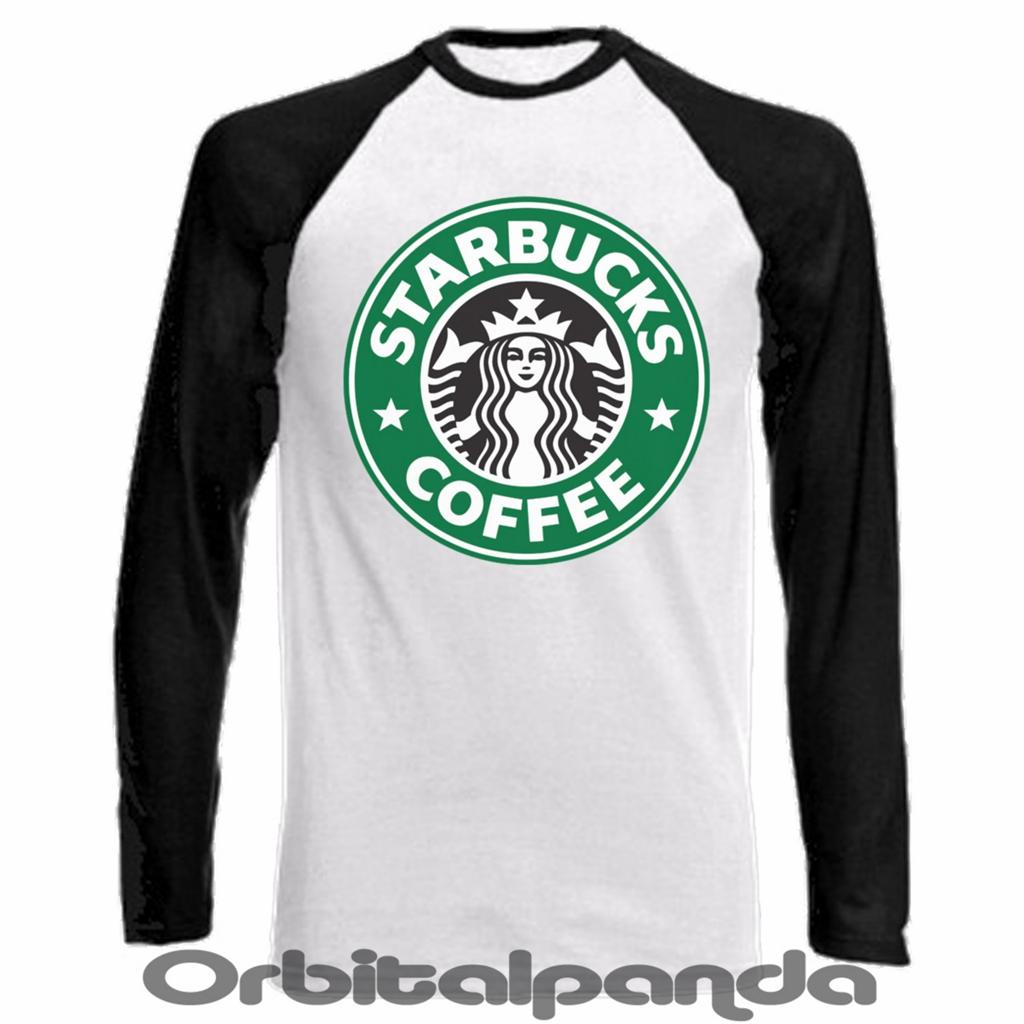 Long Sleeve Baseball T Shirt Starbucks Coffee Design