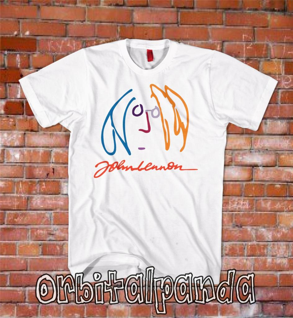 White-T-Shirt-with-John-Lennon-Imagine-influenced-design-double-fantasy