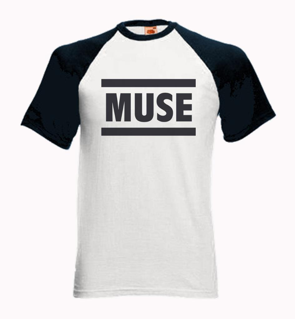 baseball short sleeve t shirt with muse logo the. Black Bedroom Furniture Sets. Home Design Ideas