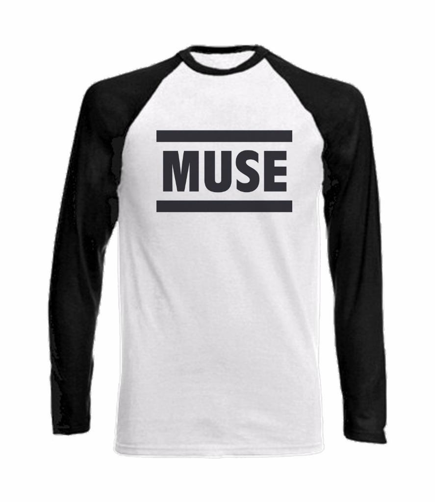 long sleeve baseball t shirt with muse logo the. Black Bedroom Furniture Sets. Home Design Ideas