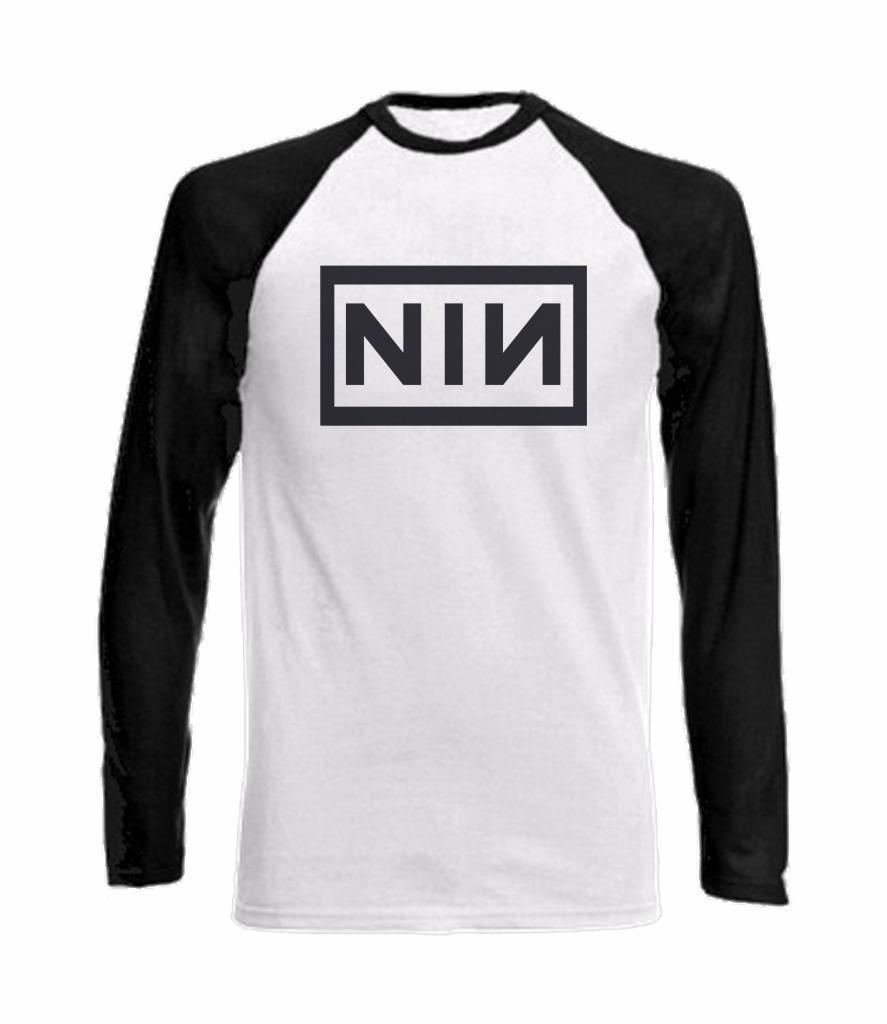 Long Sleeve Baseball T-Shirt with NINE INCH NAILS DESIGN - NIN Year ...