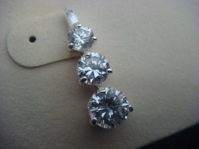 NEW KIRKS FOLLY THREE WISHES CZ POST EARRINGS CRYSTAL