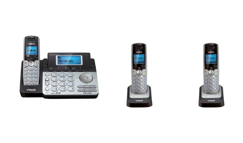 vtech 2 line cordless phone with answering machine