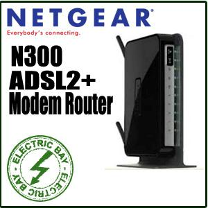 Netgear-N300-Wireless-N-Wifi-ADSL2-Modem-4-Port-Router-DGN2200M-USB-RangeMax