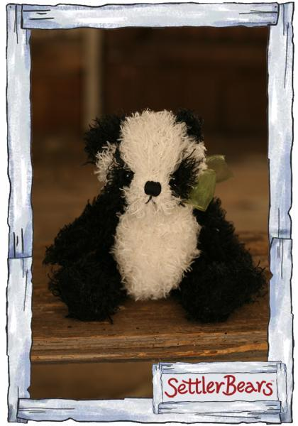 Settler-Bears-black-and-white-soft-toy-panda-Season-15-Brand-New