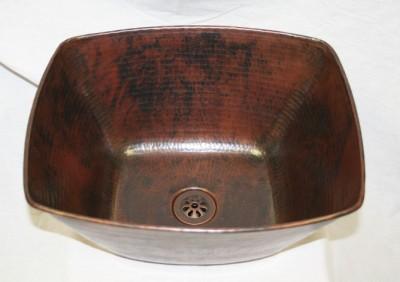 15 Rectangular Hand Hammered Copper Vessel Bathroom Countertop Sink Ebay