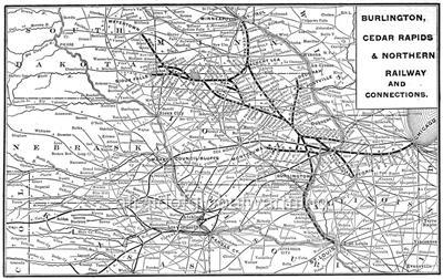 Burlington Northern Railroad Map For Pinterest