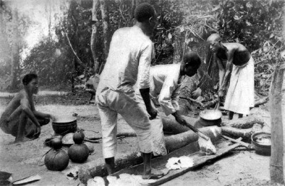Photo Ca 1902 Congo Free State Rubber Industry
