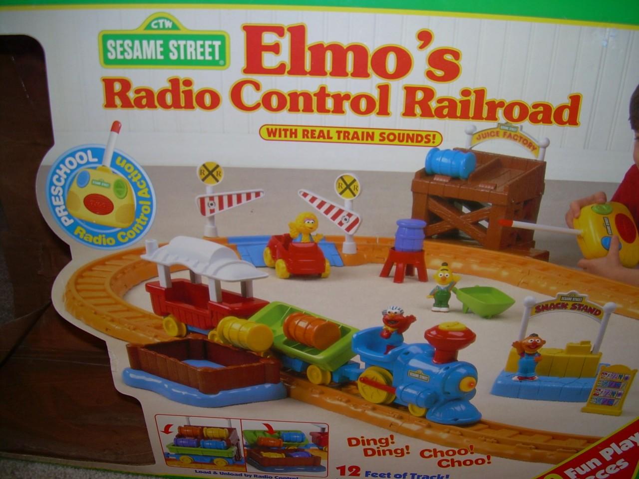 Sesame street train set 80s