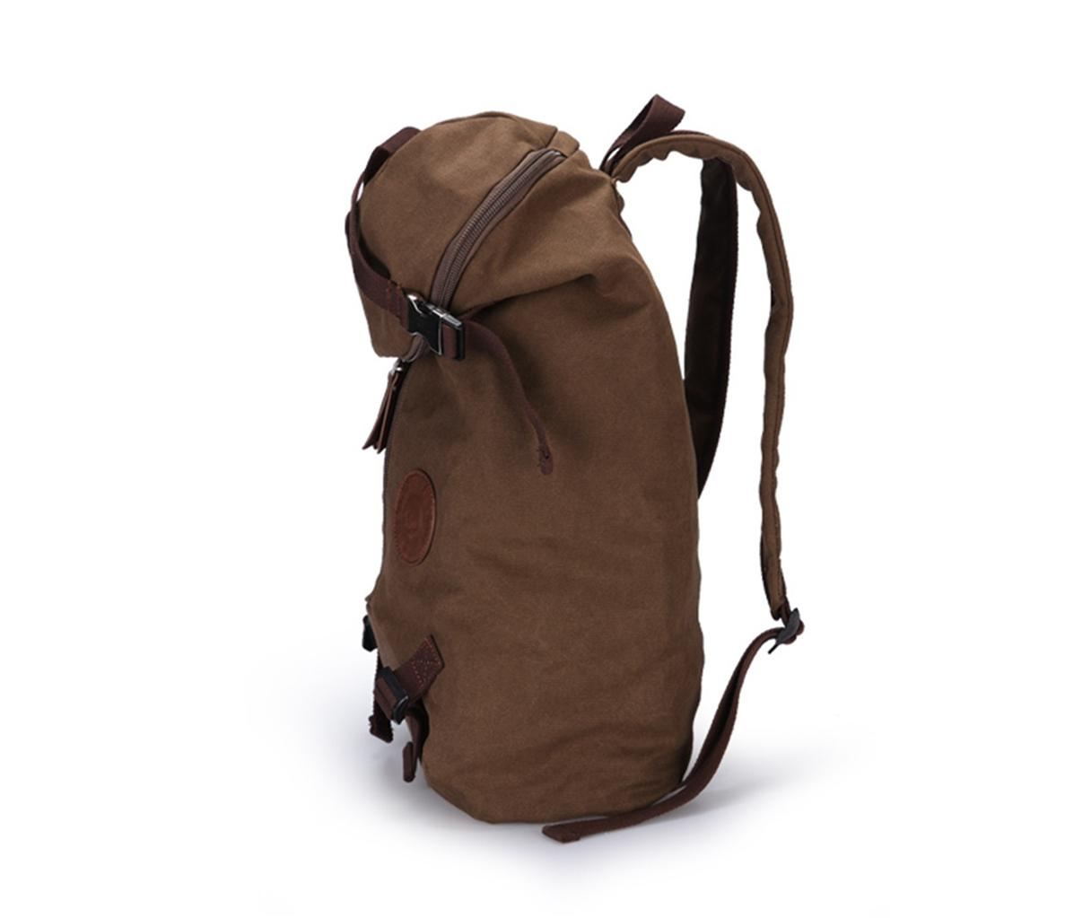 ... Muzee Canvas Backpack Laptop Bag Coffee Big Volume School Bag -0288