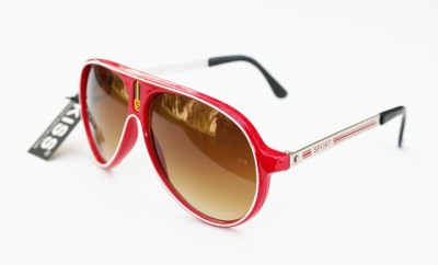 aviator sunglasses red  red plastic metal frame