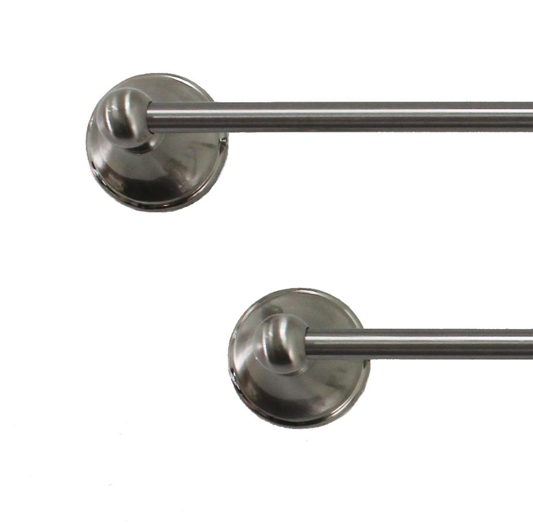 Jackson Satin Nickel Bathroom Accessories Set 18 24 Towel Bar Ring Or Tissue Ebay