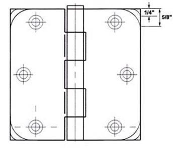 3 5 oil rubbed bronze door hinges 5 8 radius hinge 3558 for Table th border radius