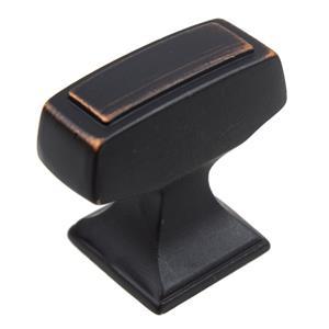 87390 orb 1 1 8 x 1 2 cabinet hardware rectangle deco knob oil rubbed bronze ebay. Black Bedroom Furniture Sets. Home Design Ideas