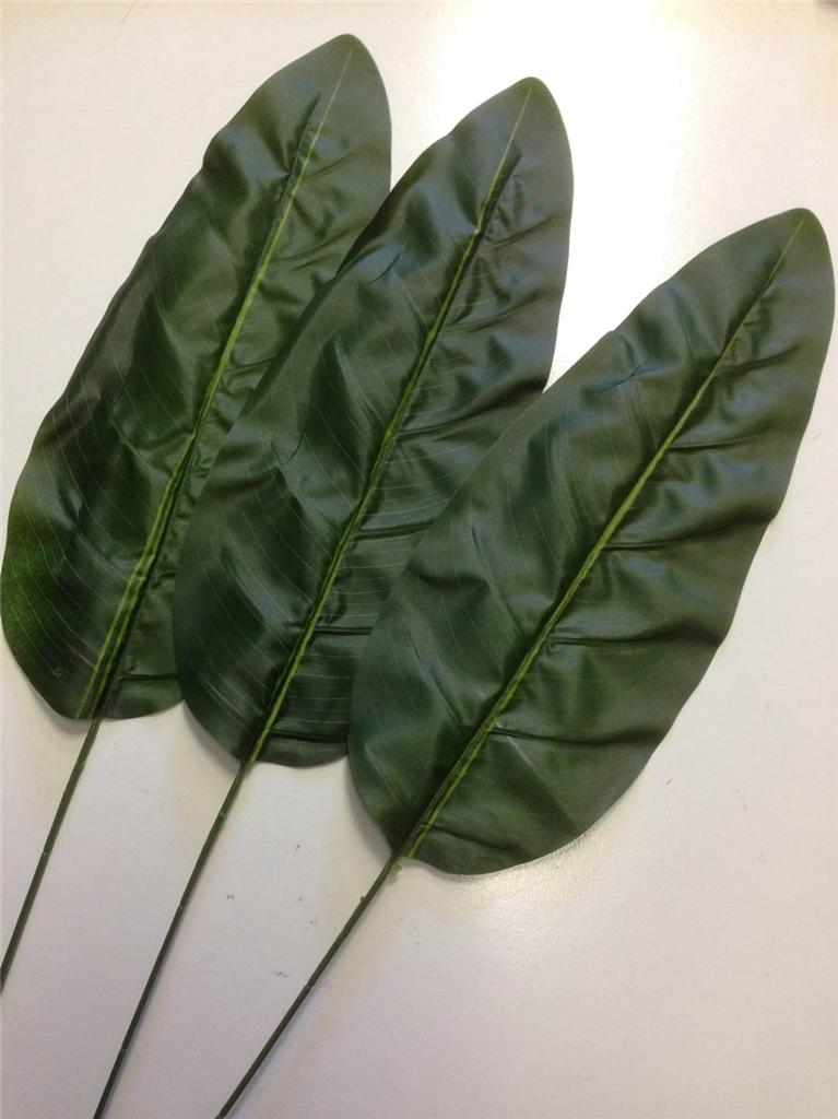3 x artificial banana leaves 90cm ebay for Artificial banana leaves decoration